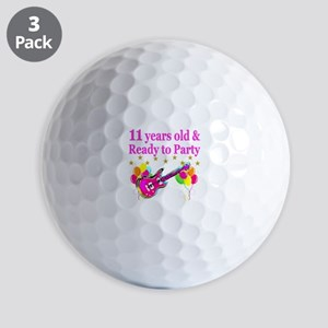 11TH BIRTHDAY Golf Balls