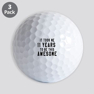 11 Years Birthday Designs Golf Balls