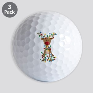 Adorable Christmas Reindeer Golf Balls