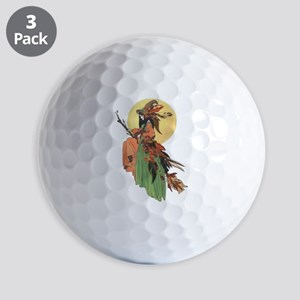 autumn witch Golf Ball