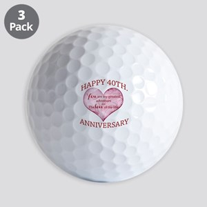 40th. Anniversary Golf Balls