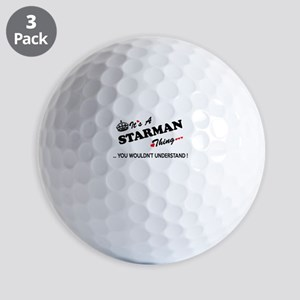 STARMAN thing, you wouldn't understand Golf Balls
