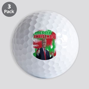 MERRY CHRISTMAS Golf Balls