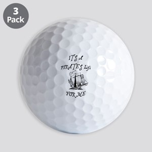 its a pirates life for me with ship Golf Ball