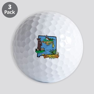 New Mexico Map Golf Balls