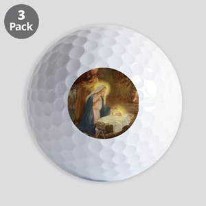 Vintage Christmas Nativity Golf Balls