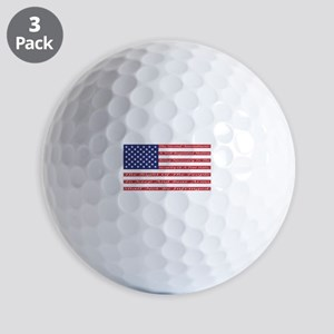 2nd Amendment Flag Golf Ball