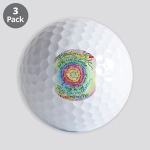 Beauty in Life Cancer Support Poem Golf Ball