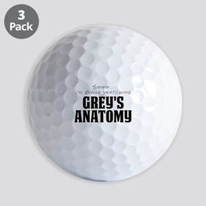 Shhh... I'm Binge Watching Grey's Anatomy Golf Bal