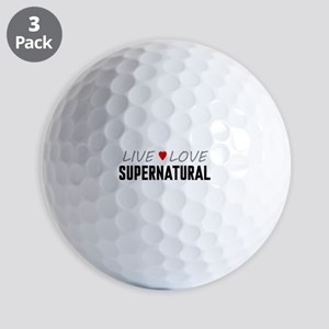 Live Love Supernatural Golf Balls