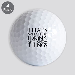 I know Things Golf Balls