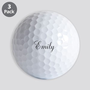 Personalized Black Script Golf Ball