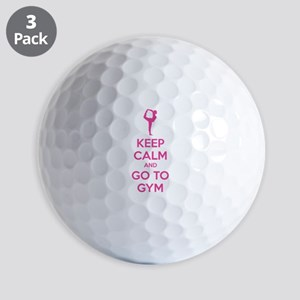 Keep calm and tax go to gym Golf Balls