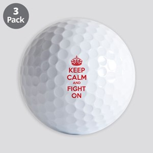 Keep calm and fight on Golf Balls