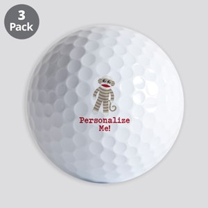 Classic Sock Monkey Golf Balls