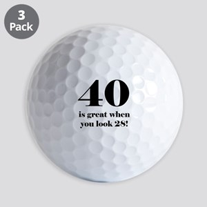 40th Birthday Humor Golf Balls