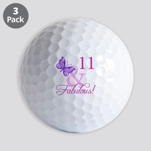 Fabulous 11th Birthday For Girls Golf Balls