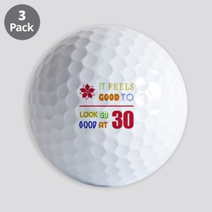 Funny 30th Birthday (Feels Good) Golf Balls