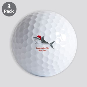 Personalized Christmas Shark Golf Balls