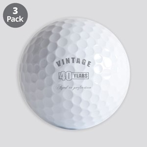 Vintage 40th Birthday Golf Balls