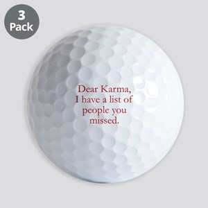Dear Karma Golf Balls