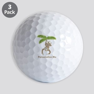 Personalized Monkey Golf Balls