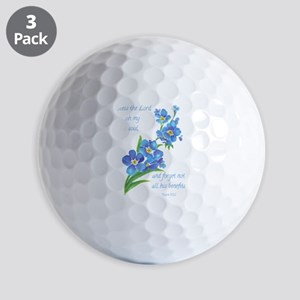 Forget Me Not Flowers with Scripture Golf Balls