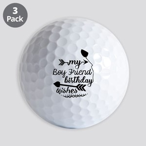 Boy friend Birthday Wishes Golf Balls