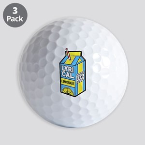 Lyrical Lemonade Golf Balls