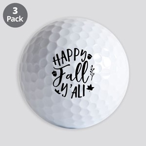 Happy fall y'all Autumn Season Golf Balls