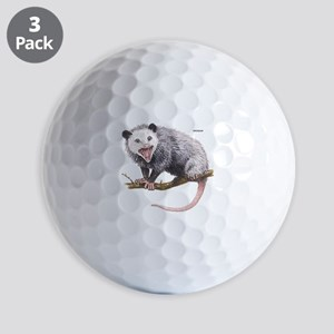 Opossum Possum Animal Golf Balls