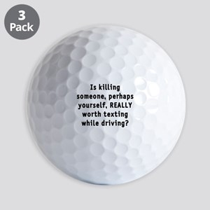 Texting while driving - Golf Balls