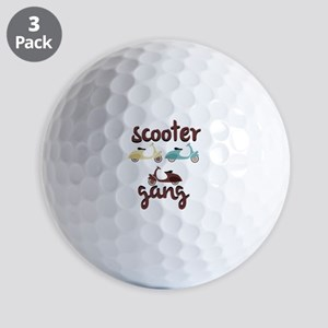 Scooter Gang Golf Ball
