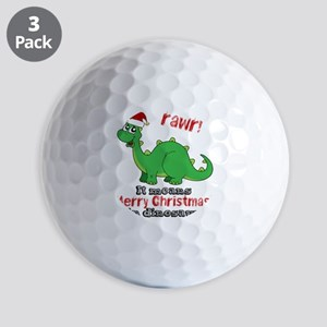 Dinosaur Christmas Golf Balls