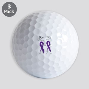 Alzheimers Ribbon Body Golf Ball