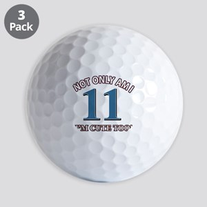 11 year old birthday designs Golf Balls