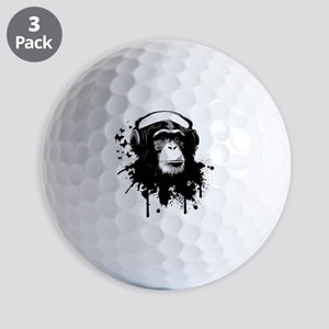 Headphone Monkey Golf Balls