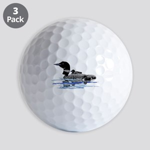 loon with babies Golf Balls