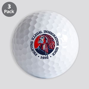 Native American (Illegal Immigration) Golf Ball