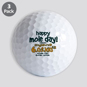 happy mole day Golf Balls