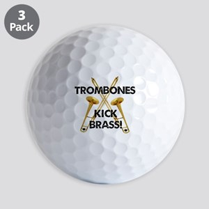 Trombones Kick Brass Golf Ball