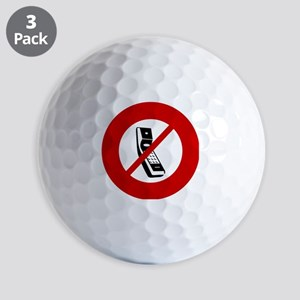 no-cell-phones Golf Balls
