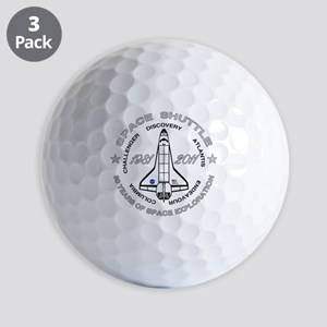 Space Shuttle_cafepress_2_dark Golf Balls