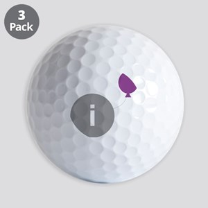 introvert party logo Golf Balls