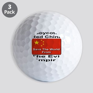 boycott_china_savetheworld_2010 Golf Balls
