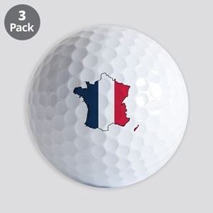 Flag Map of France Golf Balls