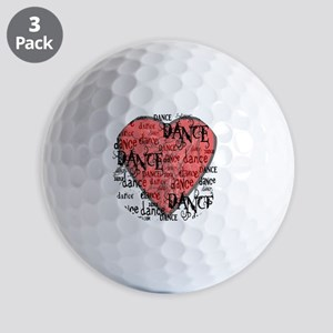 funky dance with heart best dance shirt Golf Balls