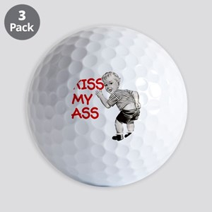 kiss-my-ass-baby-CROP Golf Balls