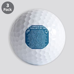Dirty Computers Golf Balls