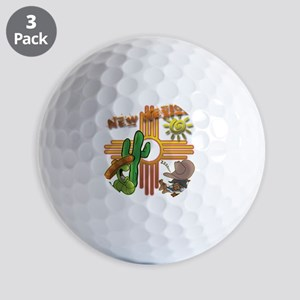 New Mexico Tequila Worm Siesta Golf Balls